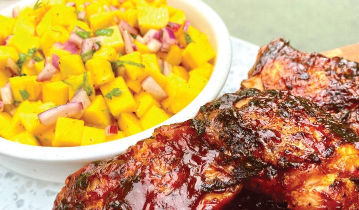 chicken and mango salsa